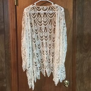 Lace cover up/topper